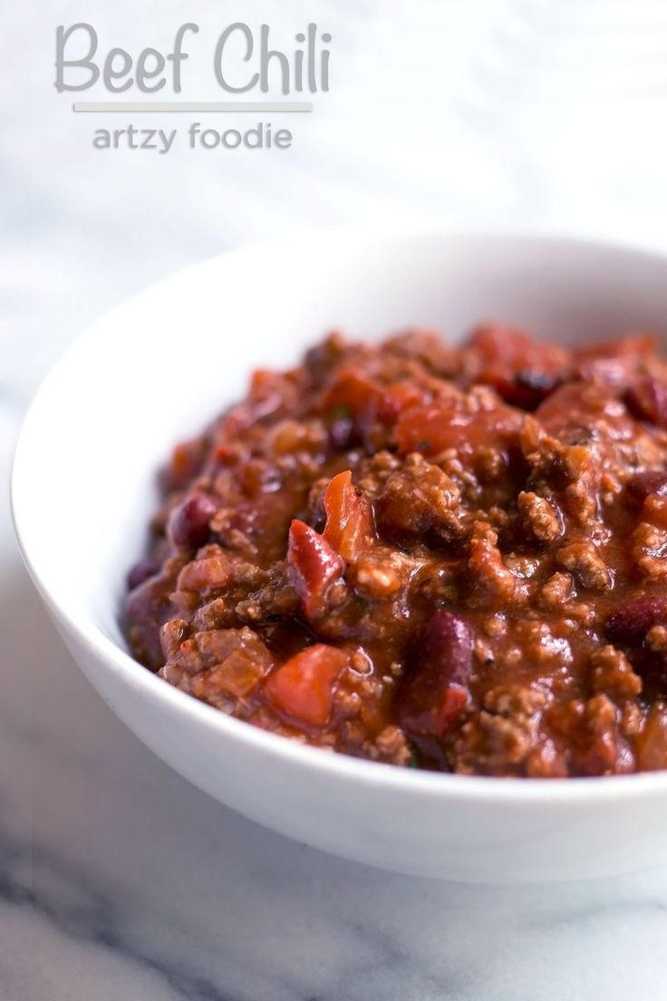 Beef And Bean Chili Recipe Easy Beef Chili Recipe Beef Chili Beef Chili Recipe