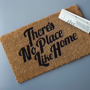 'No Place Like Home' Doormat - Not on the High Street