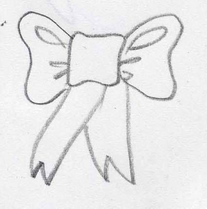 how to draw a ribbon or bow