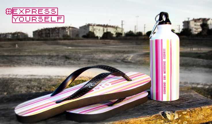 #Express Yourself - design for our squeeze water bottles, made in aluminum 600ml.