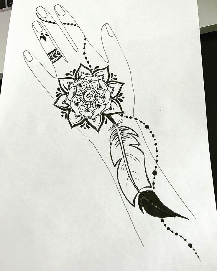 Полчаса на творчество #мехенди #хна #рисунокхной #дизайн #розы #узор #мехендидизайн #мандала #ом #перо  #mandala #feather #hennadesign #mehendidesign #design #mehendi #henna #sketch #art #draw #drawing