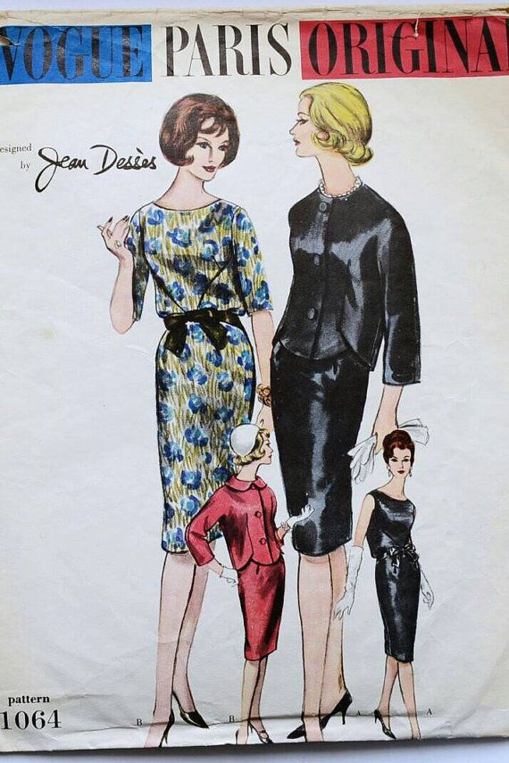 Vogue dress patterns UK vintage Paris Original 1064  by Tigrisa