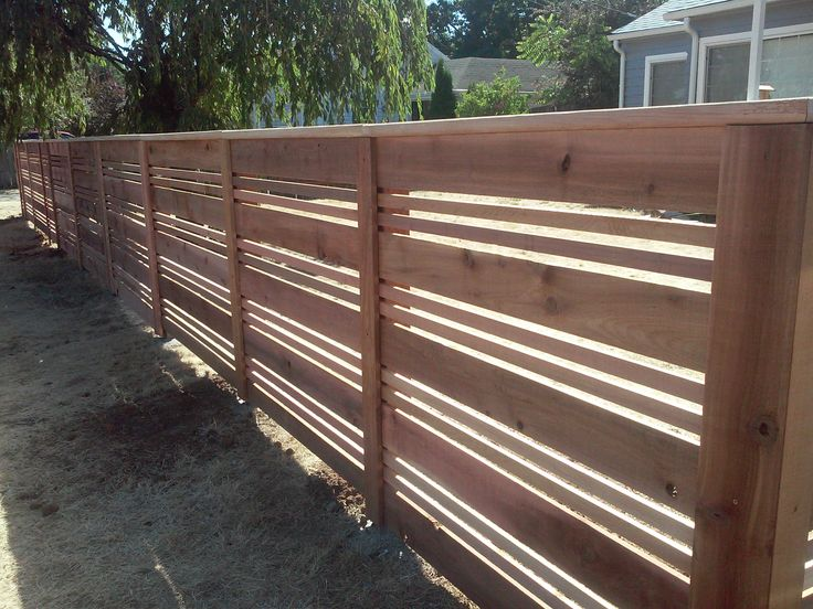 Custom Horizontal Wood Fences Portland Or Horizontal