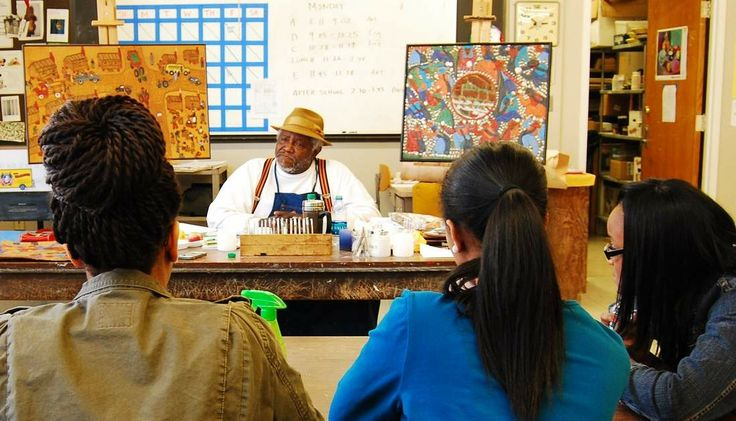 """The best kind of education comes from a personal connection where you learn directly from someone's real life experiences.It's when someone shares ideas and deep feelings without holding back;it iswhen you sit side-by-side with a mentor and get personal instruction.Nearly 200 Arlington High School students were privileged to receive such an education in late March when Winfred Rembert, an African-American folk artist and storyteller, spent a week as artist-in-residence at AHS.""""Every"""