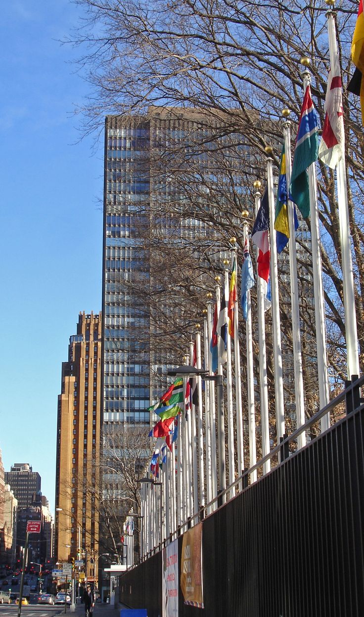 Flags of the United Nations. New York, New York.
