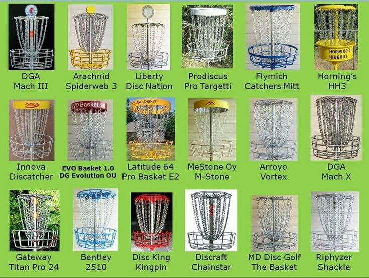 Disc Golf Baskets Gateway Titan Pro 24, DGA Mach X  and the DGA Mach III are the best