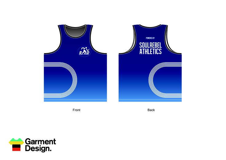 Fully sublimated singlets for soul rebel athletics