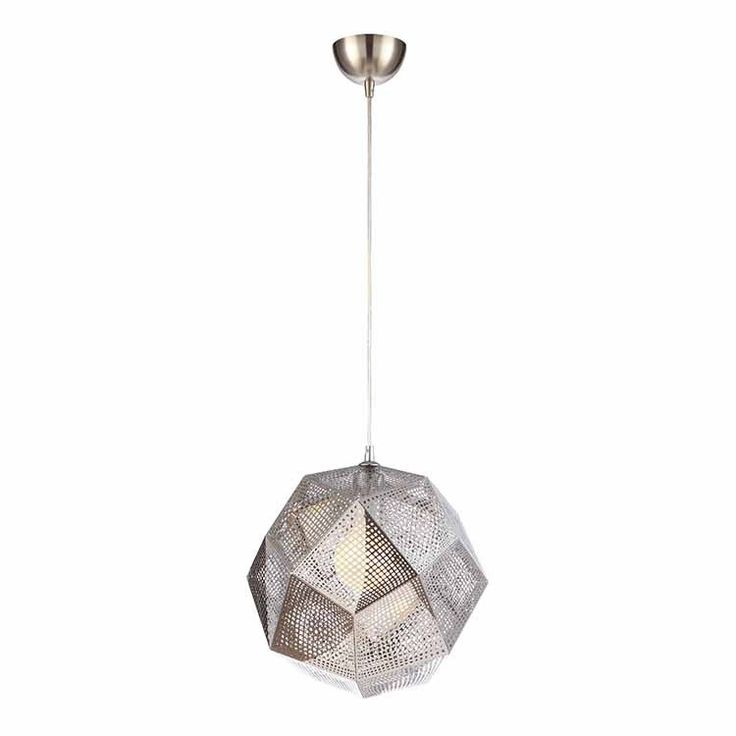 Stainless steel multi-faceted industrial style pendant light, dwell