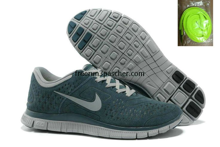 buy cheap  Pas Cher Nike Free Run 4.0 V2 Suede Gorge vert 511473 404,top quality shoes onsale just: $46.99
