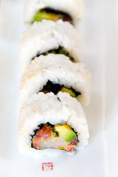 spicy tuna scallop sushi roll recipe | Something else I would like to ...