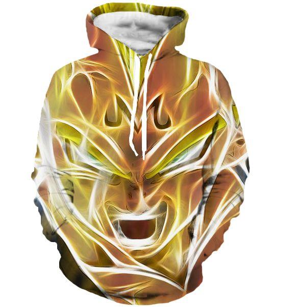 El más nuevo Estilo Anime Dragon Ball Z Super Saiyan Goku Sudaderas Fresco Sudaderas Con Capucha Hombres de Las Mujeres de Manga Larga prendas de Vestir Exteriores Sudadera Con Capucha