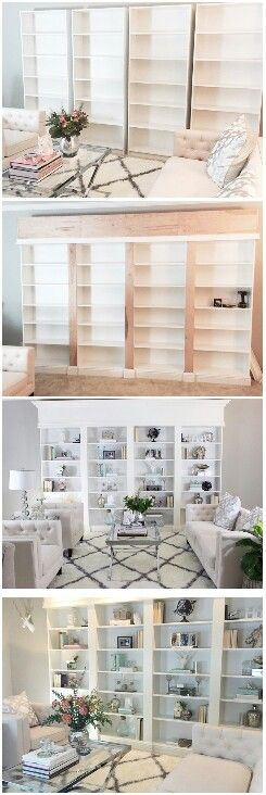 D.I.Y Built In Bookcase …