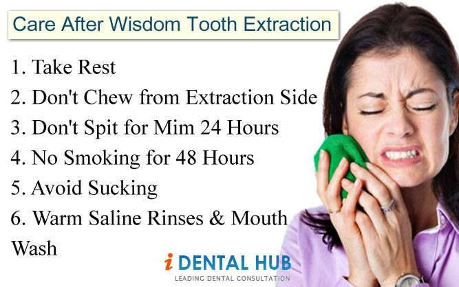 Know about the care after wisdom tooth extraction..