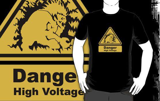 Danger High Voltage Blanka Street Fighter T-Shirt