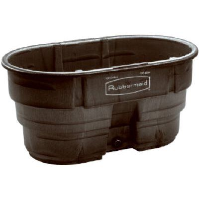 Rubbermaid Stock Tank, Black Weather & Crack-Resistant Structural Foam Plastic, 100-Gals.: Model# 4242-88-BLA | True Value