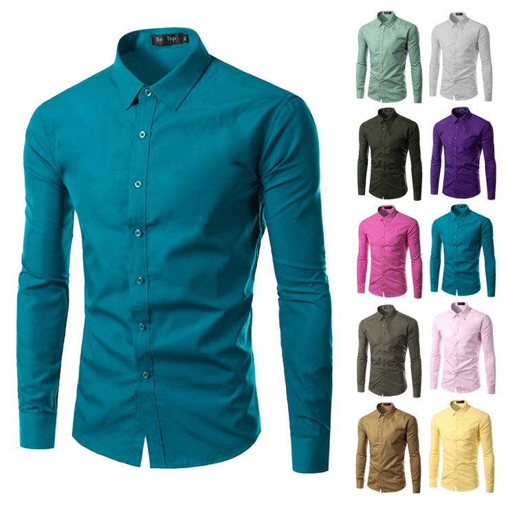 $4.49 Click Visit to buy from AliExpress -- 2016 Fashion Brand Mens Shirt Long Sleeve Camisa Masculina Men's Clothing Casual Dress Shirts Solid Color Work Wear Men 6492