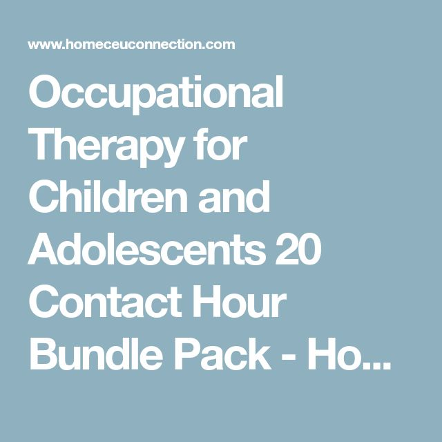 The  Best Occupational Therapy Courses Ideas On