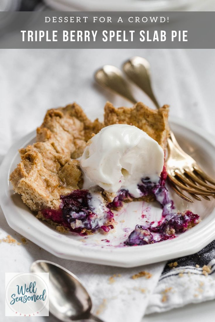 Triple Berry Pie Recipe Triple Berry Pie Desserts For A Crowd