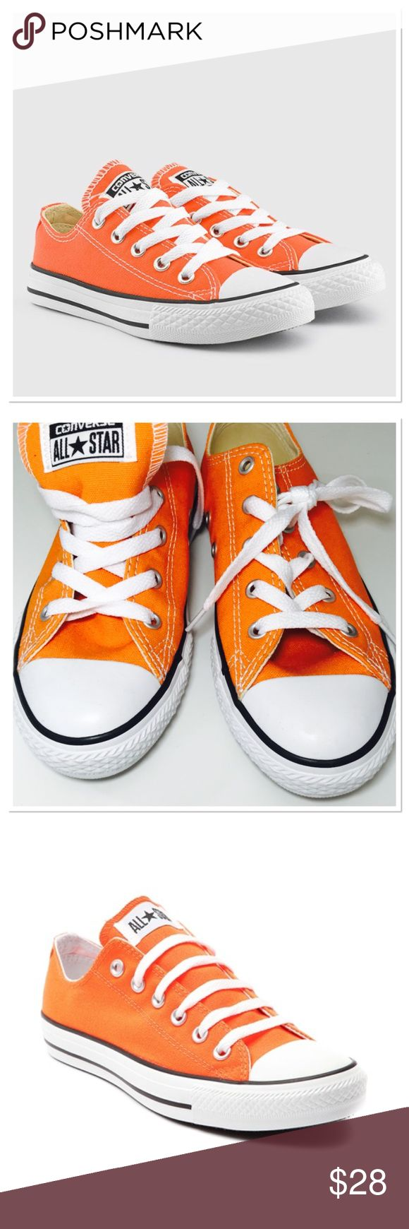 NIB Kids Converse So cute for boy or girl. Never worn ! Size 1.5  I have only the bottom of the box and that one is a little damage. The shoes are in mint condition. Converse Shoes Sneakers
