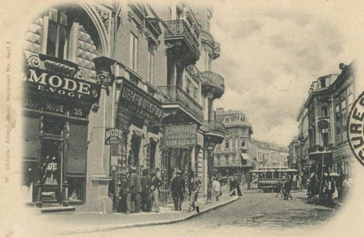 Bucuresti - Grand Hotel du Boulevard și Libraria Alcalay la 1900