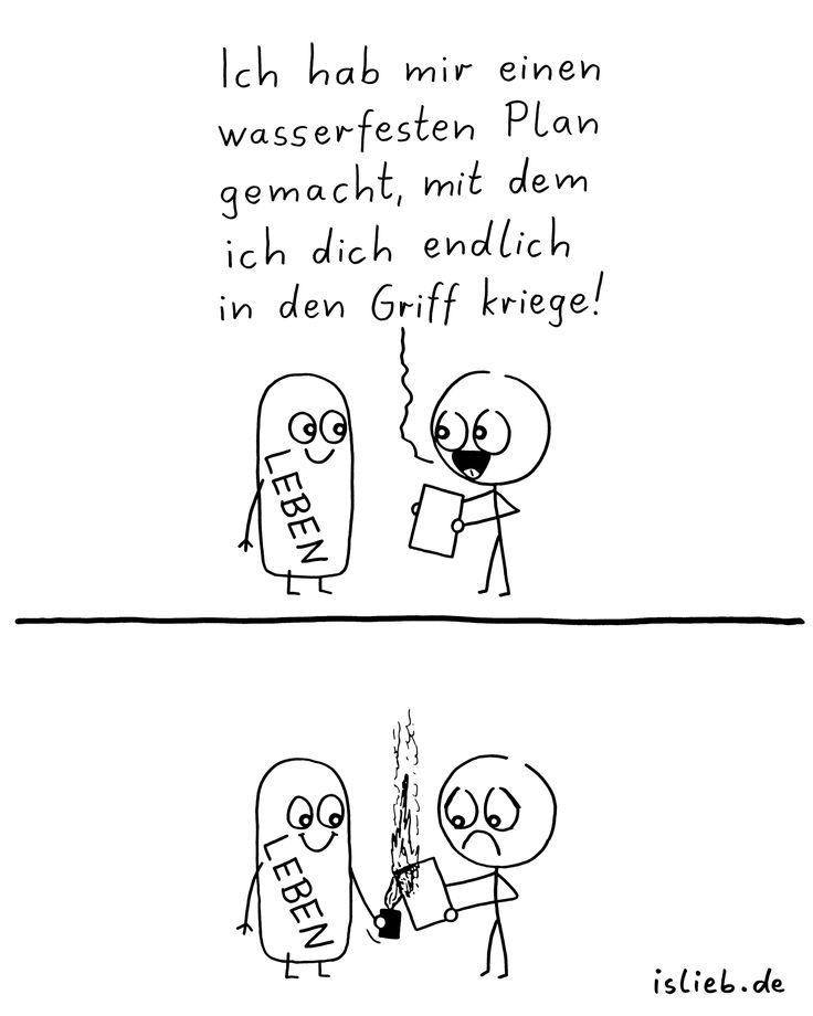 Pläne machen. Is lieb? | #plan #leben #lustig #strichmännchen #islieb
