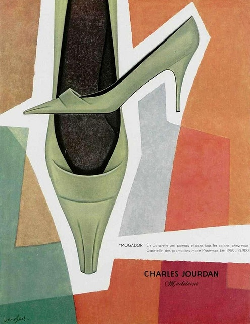 50s ad: Charles Jourdan shoes    source : L'officiel magazine, n° 443-444, 1959