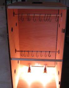 How to Make Biltong - Biltong Box in operation.