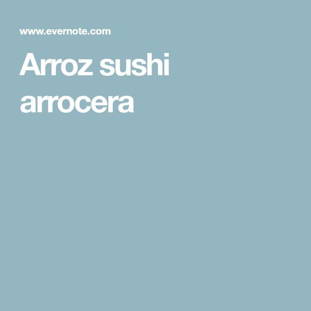 Arroz sushi arrocera
