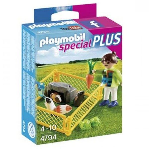 Precio: 3,50 € Special Plus 4794 Playmobil Niña con cobayas. Consíguelo en: http://www.playmoclicks.com/es/special-plus/726-playmobil-4794-special-plus-nina.html