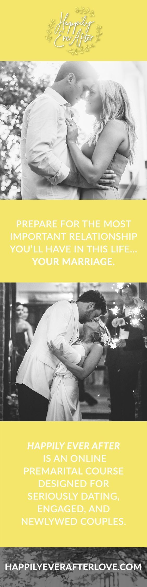 HAPPILY EVER AFTER is an online premarital course designed for seriously dating, engaged, and newlywed couples covering topics like money, intimacy, communications, conflict & more! ⇨ www.happilyeverafterlove.com?utm_content=buffer0dc2a&utm_medium=social&utm_source=pinterest.com&utm_campaign=buffer