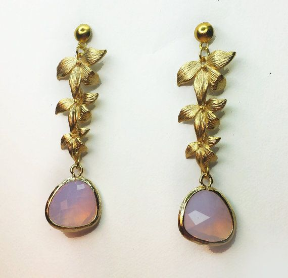 Opals on an Orchid Branch Earrings