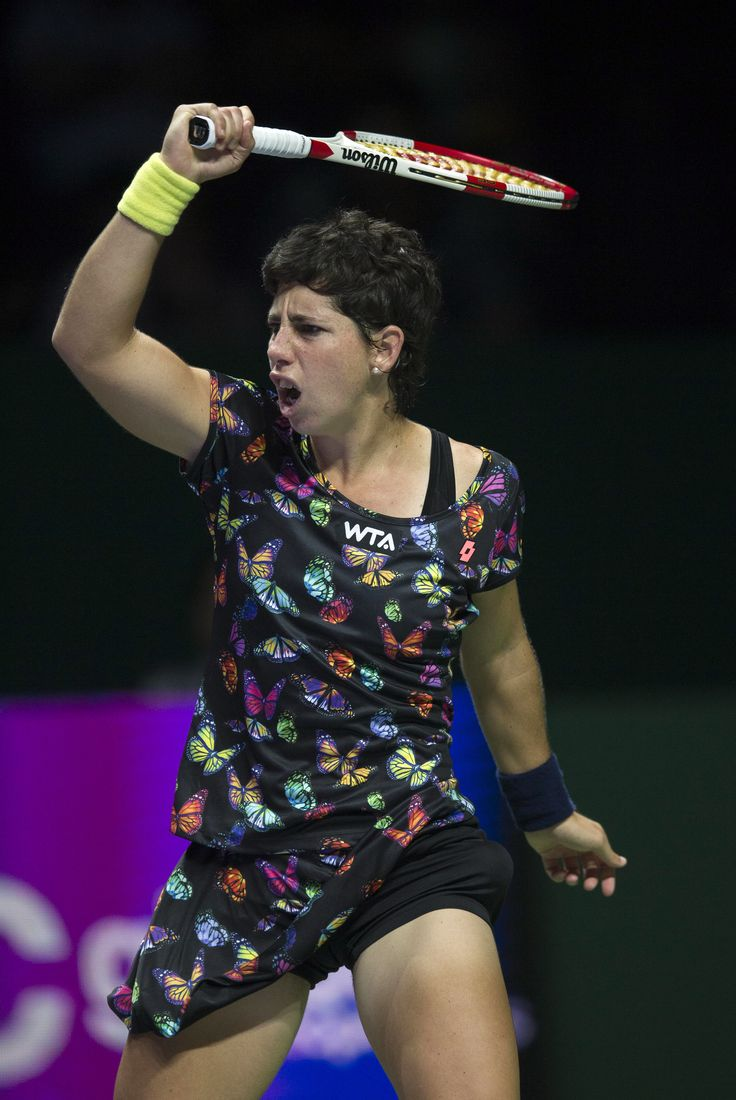 Carla Suarez Navarro.  Maddy Butterfly Collection. #butterfly #tennis #clothes