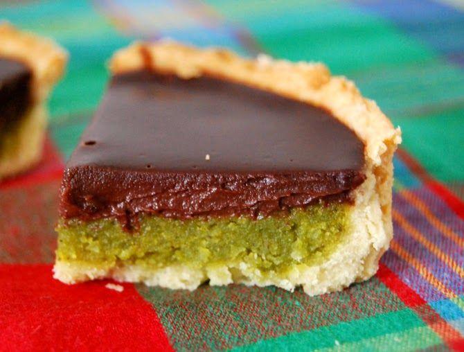 Tarte amandine chocolat pistaches