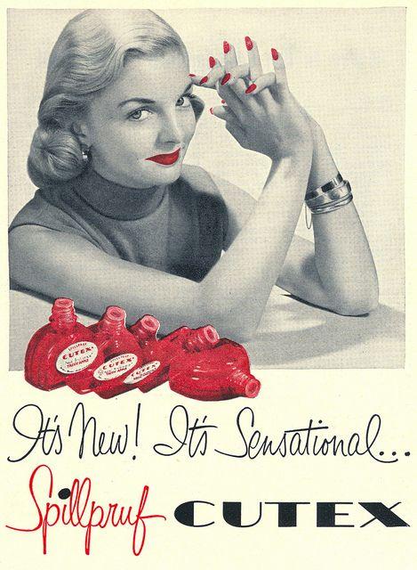 It's new! It's Sensational...Spillpruf Cutex (1952).