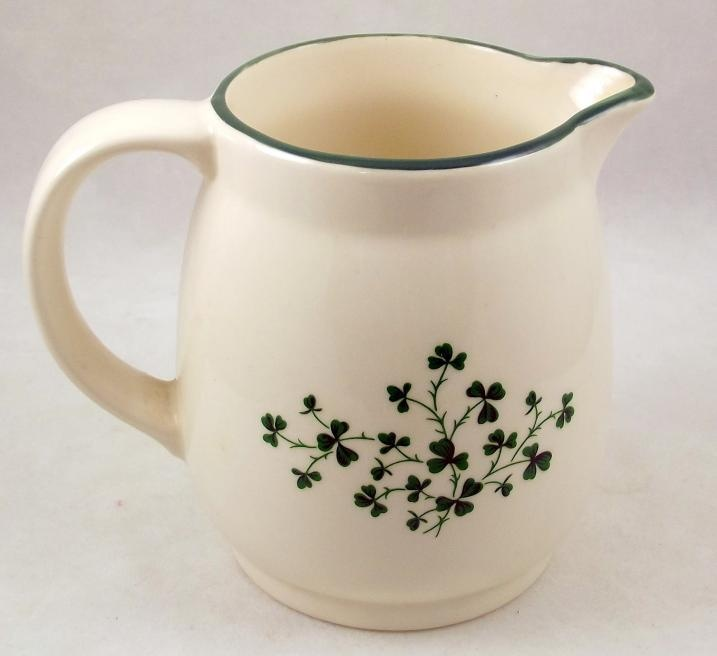 Carrigaline Irish Pottery creamer milk pitcher shamrocks