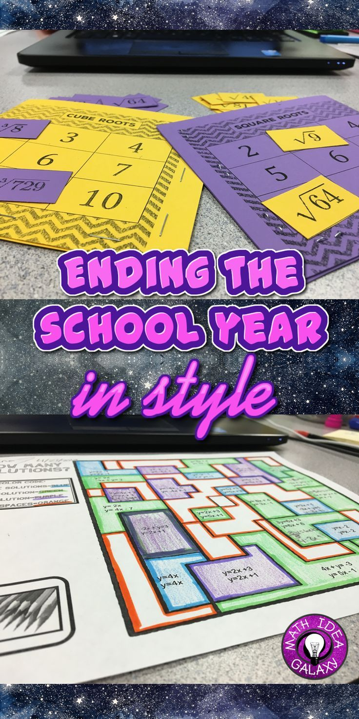 End Of The Year Activities In The Math Classroom