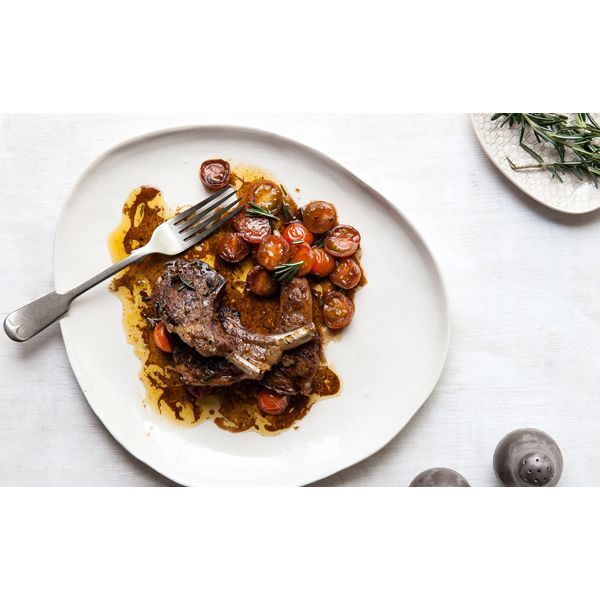 Fancy a cherry tomato vinaigrette with lamb chops? Learn how to make this and other brilliant dishes in our online course: Success with Sauces.