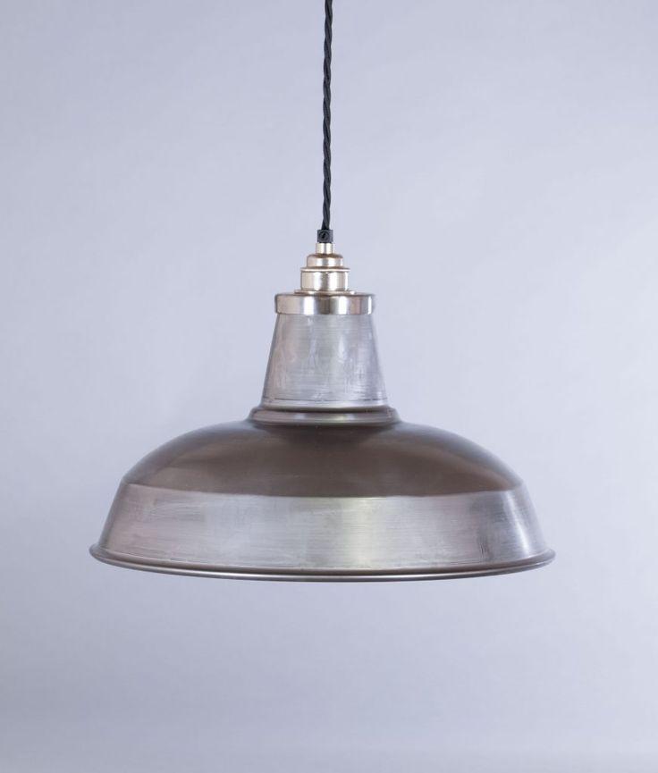 industrial lamp shade raw steel burley factory light shade - Metal Lamp Shades