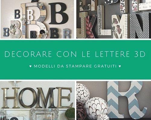 Decorando una stanza, uno scaffale o una parete con le lettere dell'alfabeto  si possono ottenere con facilità e a bassissimo costo (v...