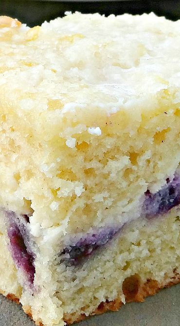 Blueberry Lemon Cream Cheese Coffee Cake ~ The best coffee cake ever
