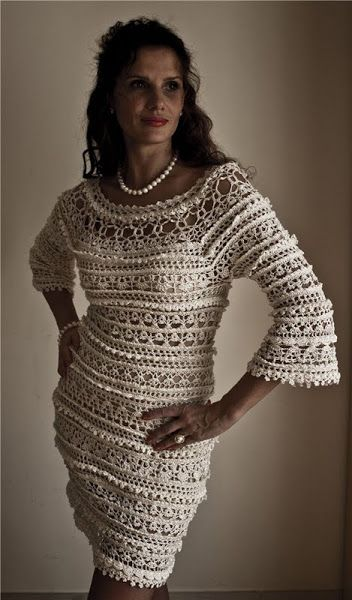 crochet dress by Vanessa Montoro (Osinka.ru)