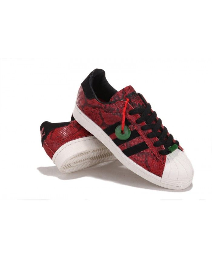 Discount Adidas Superstar Mens Red Sale UK T-1068