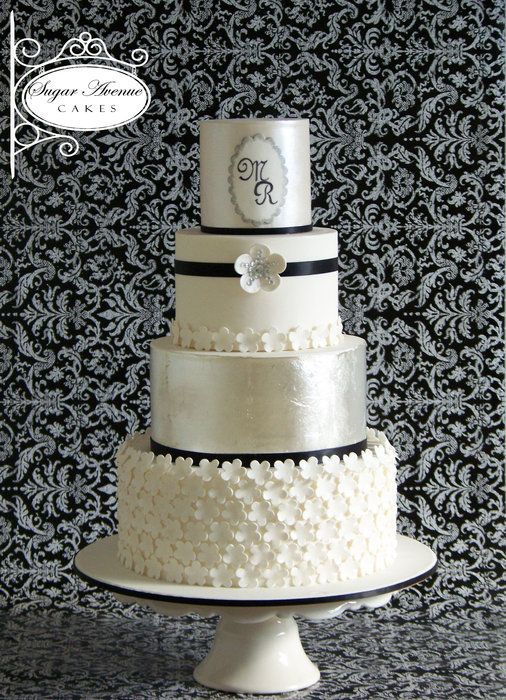 Silver Glamour - by SugarAvenueCakes @ CakesDecor.com - cake decorating website