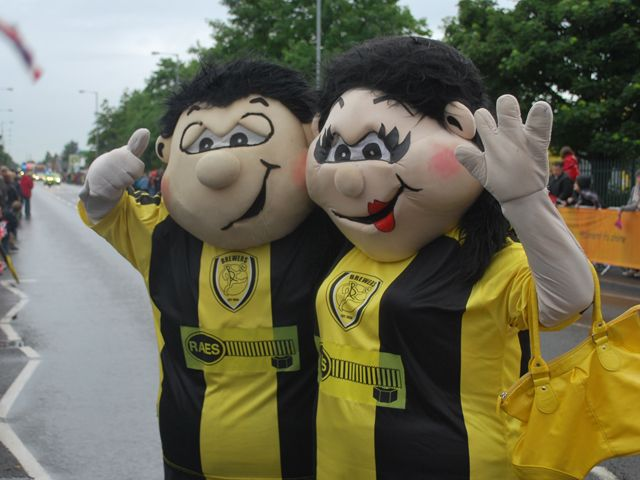 Billy and Bettie Brewer - Burton Albion F.C.'s mascots