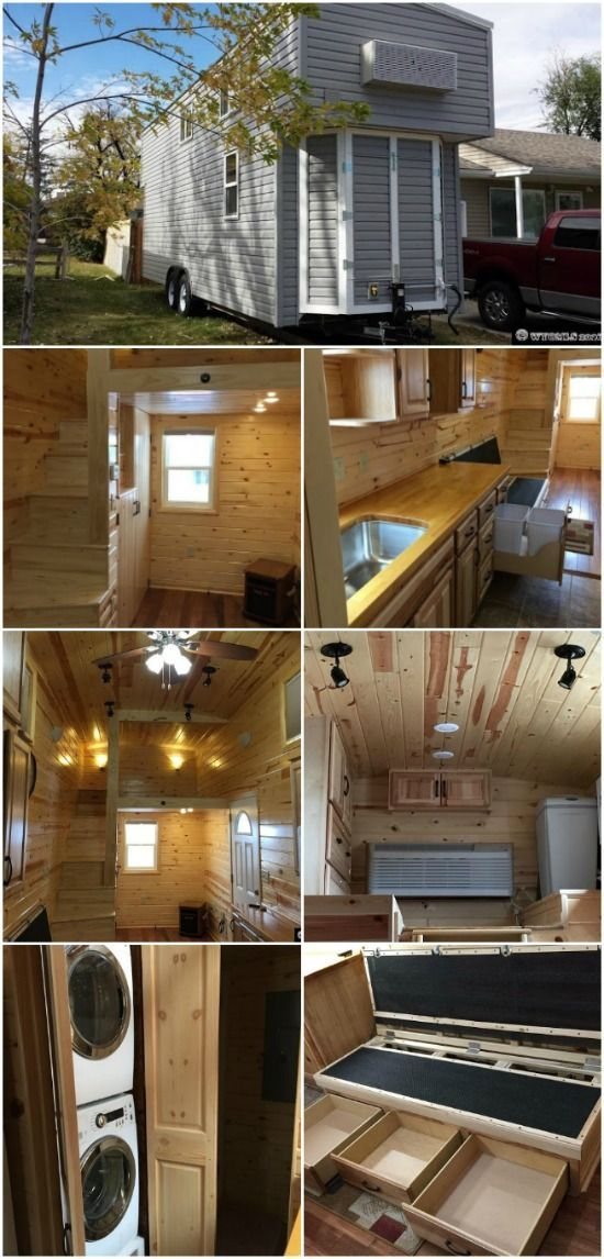 Wyoming Tiny House Full of Amenities Sells for $29,000 - A 208 square foot tiny house in Casper, Wyoming recently sold for $29,000. What we find amazing about that is the fact that this particular tiny house was full of amenities which proves you can have an incredible home while staying within a modest budget! The Casper tiny house was built on a 26-foot trailer and is wrapped in durable vinyl siding with a metal roof.