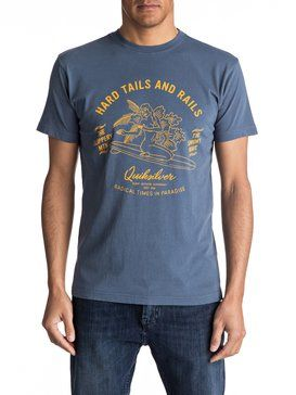 quiksilver, Hard Tails Tee, DARK DENIM (brq0)
