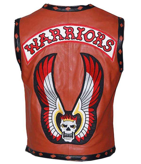 Warrior vest leather jacket