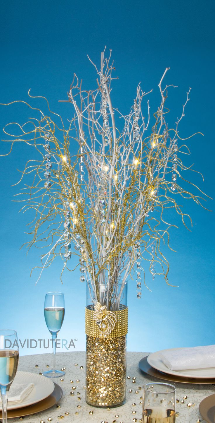 Gold Bling Branch Centerpiece Branches Branch