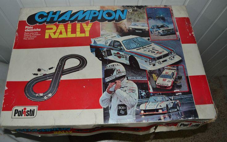 Pista elettrica Polistil Champion Rally Vintage anni 70 80 Rara