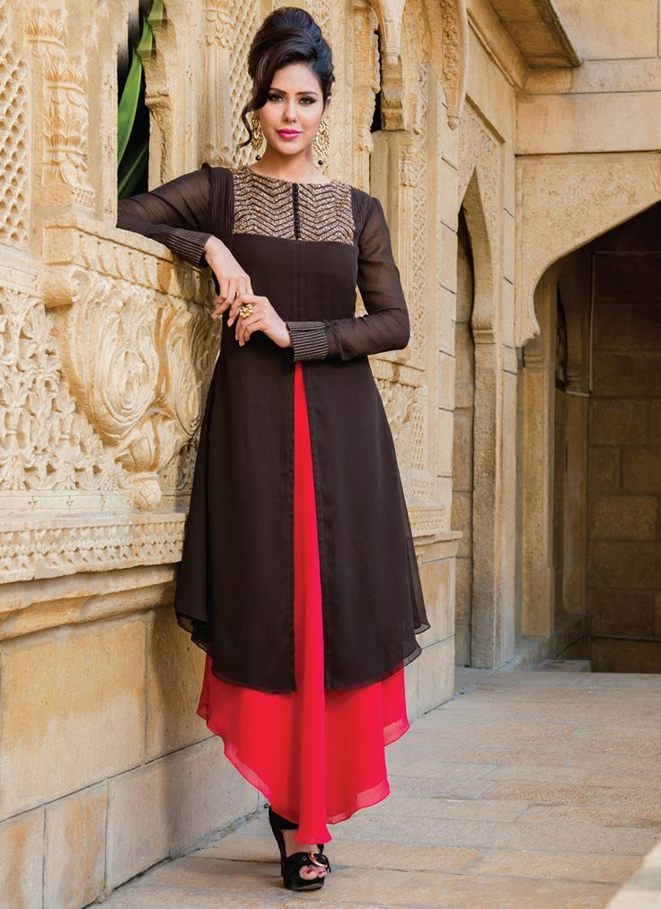 Black & Red Wholesale Salwar Suits Collection 2015